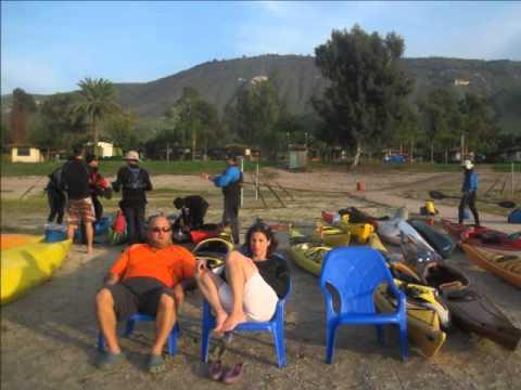 מועדון אופטימיסט-הקפת הכנרת בקיאקים -חורף 2012